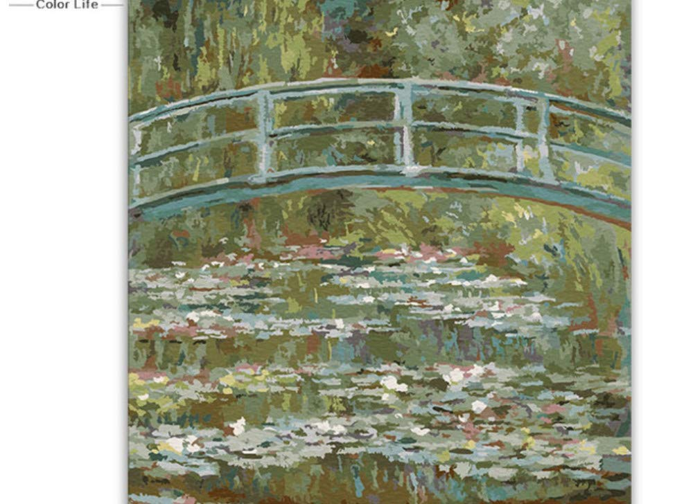 mhdxmp (No Frame) Water Lilies Paintings Pictures By Numbers Claude Monet Digital Paint Drawing Coloring Painting By Numbers With Kits Package