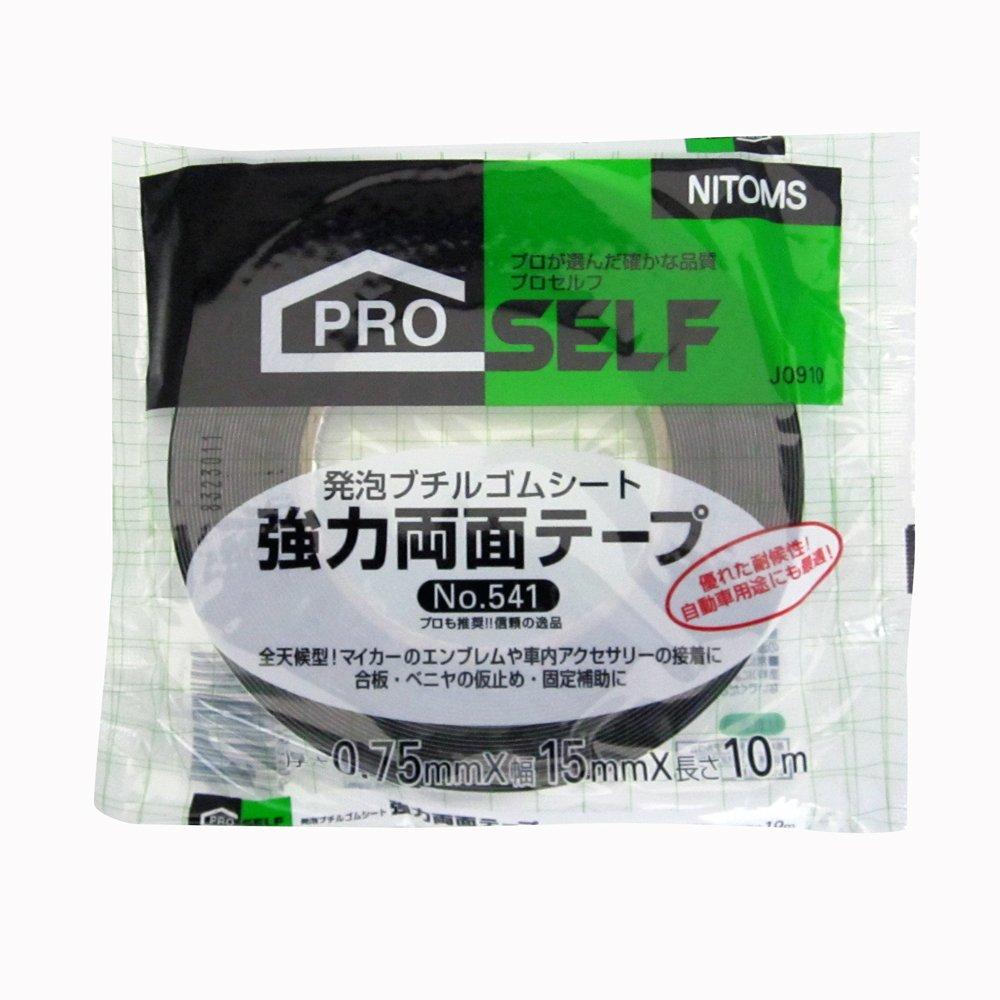 Nitto Europe NV J0910 Cinta de doble cara y alta resistencia de 15 x 10 N Nitoms NTMJ09101