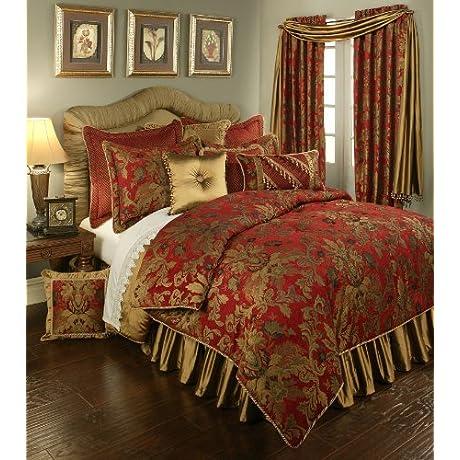 Austin Horn Classics Red Verona Bedding Collection 4 Piece Queen