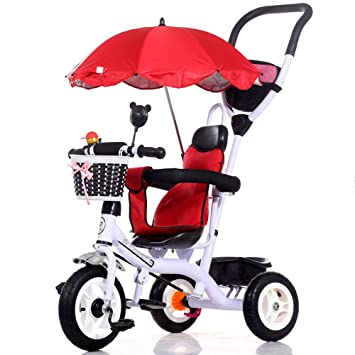 Bicicletas YANFEI 4 en 1 Smart Kids Triciclo 3 Ruedas Posición Múltiple Niños Paseo del bebé