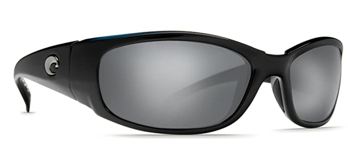 fc27cbf9cce Amazon.com  Costa Del Mar Sunglasses - Hammerhead- Glass   Frame  Shiny Black  Lens  Polarized Silver Mirror Wave 580 Glass  Clothing