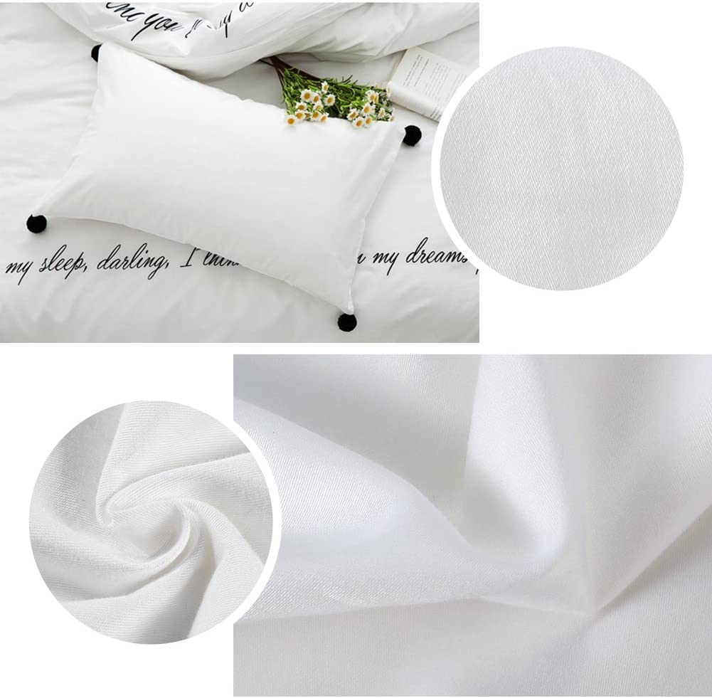 CAROMIO 4-Pack Zippered Pillow Protectors Standard Premium 400 Thread Count 100/% Egyptian Cotton White Zippered Pillowcases Pillow Covers