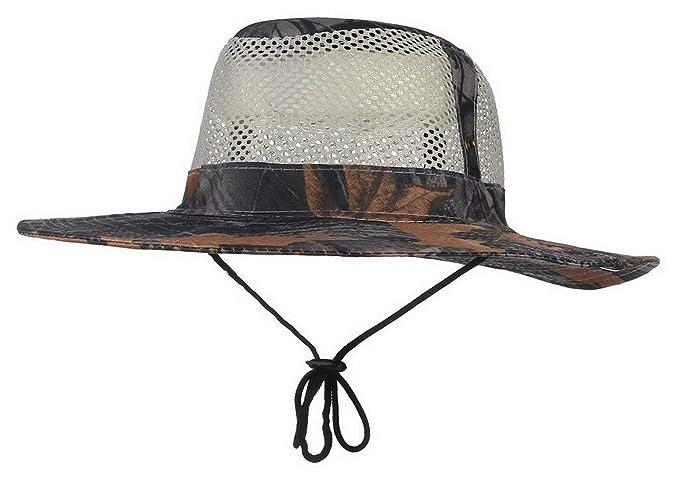 Sombrero De Sol para Hombres Gorro De Malla Arbusto Sombrero De Sombrero De Especial  Estilo Verano bcefc3a9a1f