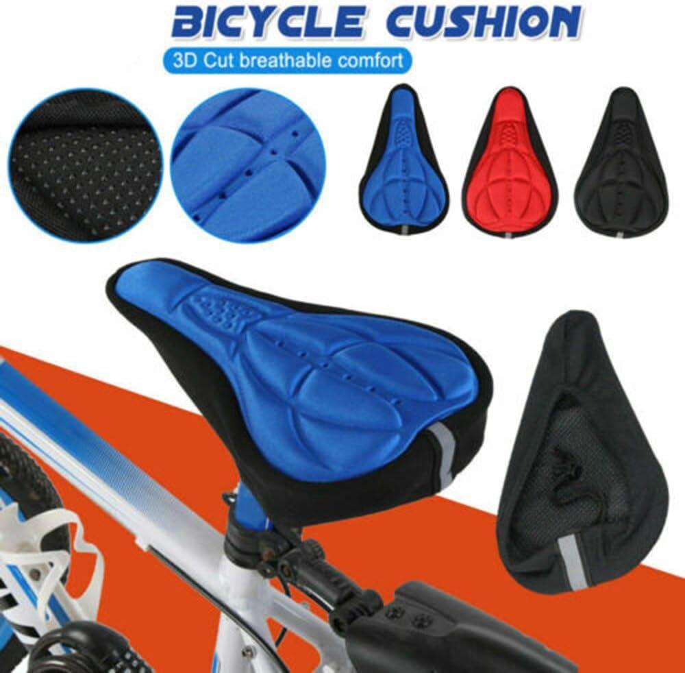 Sunwan - Funda para sillín de bicicleta, gel suave, para bicicletas estáticas y ciclismo