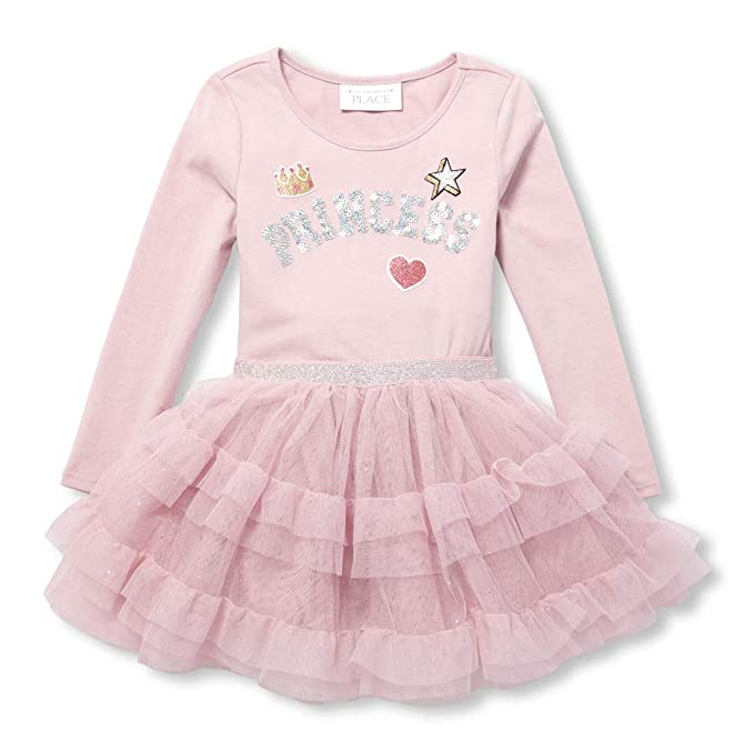 7a218529 Amazon.com: The Children's Place Toddler Girls' Mesh Glitter Dress ...