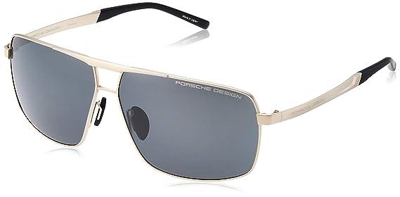 Amazon.com: Porsche Design P8658 C Gold 64-11 - Gafas de sol ...