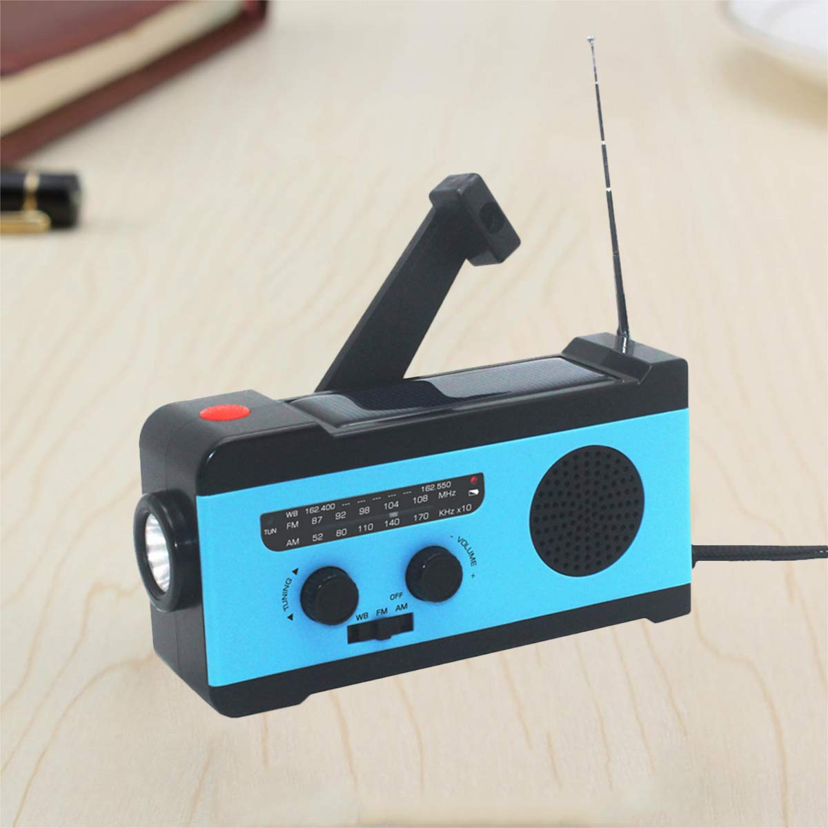 VOSAREA Portable Radio FM Receiver Emergency Radio with Alarm Clock FM Radio FM Receiver by VOSAREA (Image #7)