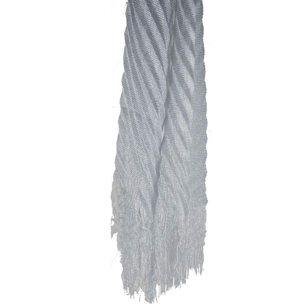 Emila Stola cerimonia coprispalle elegante a pliss/è con frange foulard scialle grande lurex da matrimonio per abito da sera L190xH50