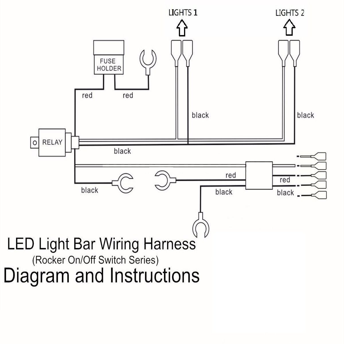 Wowled Led Driving Work Light Bar Wiring Loom Control 2 Lights Relay Audible Diagram Fuse Kit 12v Car Motorbike