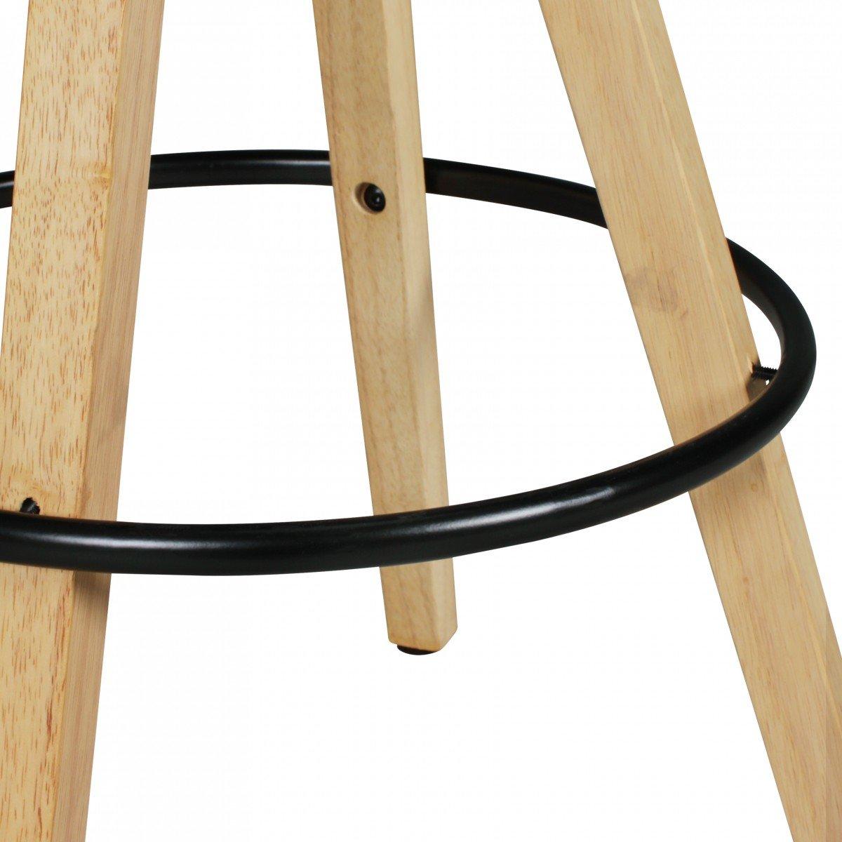 FineBuy 2er Set Barhocker Retro Design Kunst-Leder Holz Holz Holz mit Rücken-Lehne in schwarz   Design Barstuhl Retro Skandinavisch 2 Stück   Tresenhocker Sitzhöhe 72 cm 1e2dda