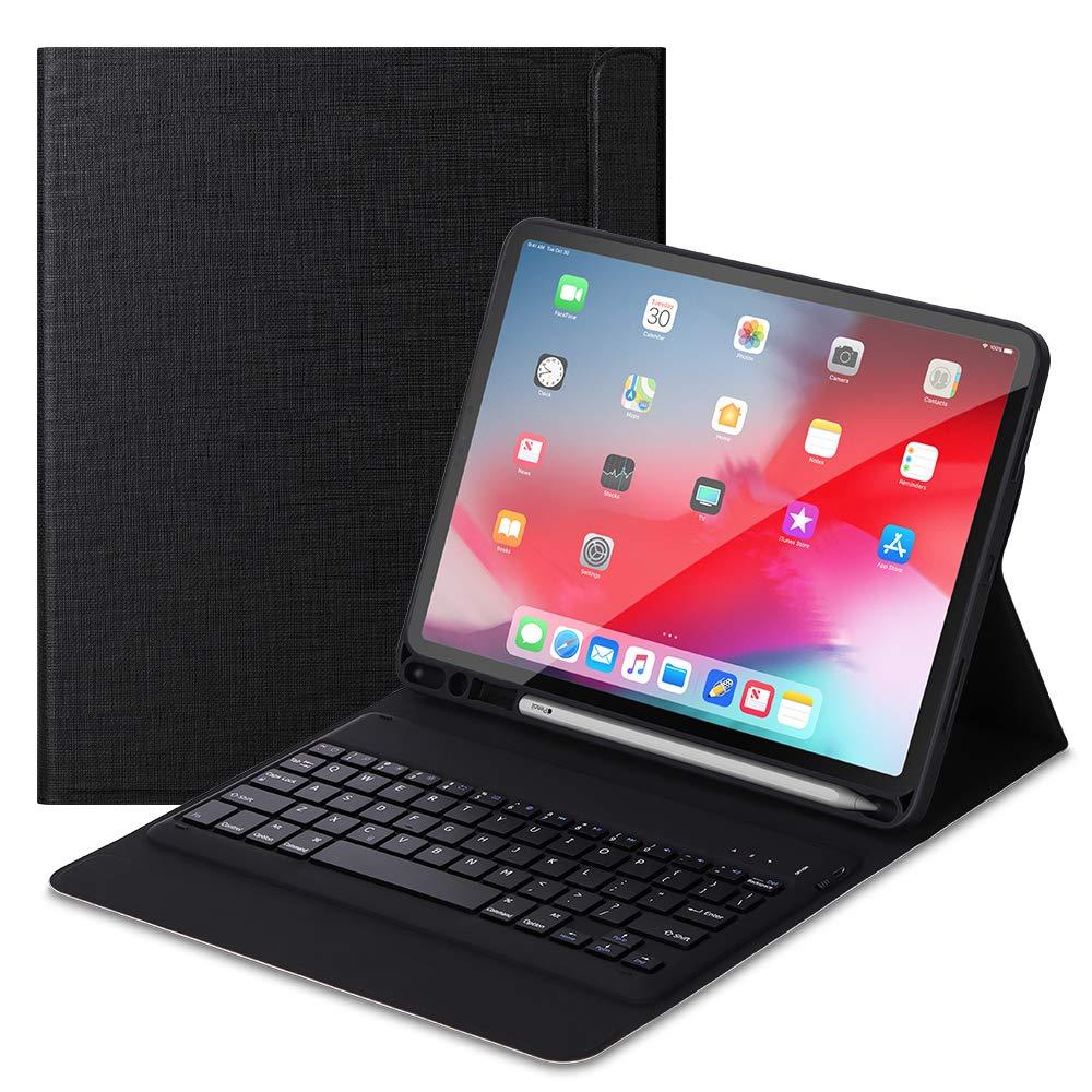 国産品 Foluu Pro 11インチ2018用 iPad Pro iPad 11 2018キーボードケース 取り外し可能なワイヤレスiPadキーボード + フォリオスマートケース ペンシルホルダー付き スマートPUカバー 自動スリープ/ウェイク磁気 Apple iPad Pro 11インチ2018用 ブラック iPad Pro 11 2018 ブラック B07LBG7R96, 陽だまりマルシェ:fe768171 --- a0267596.xsph.ru