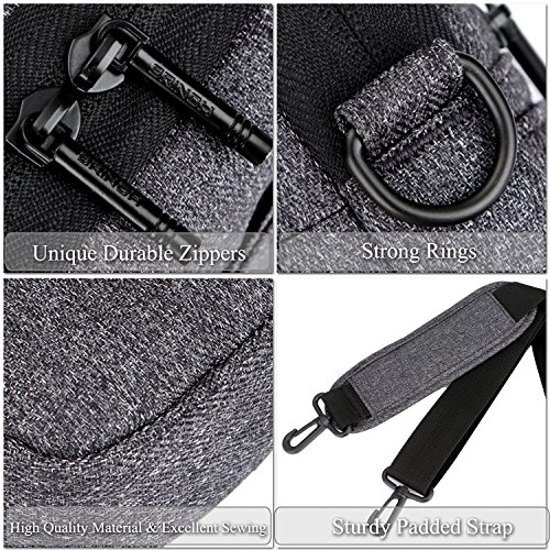 Laptop Bag,BRINCH Slim Water Resistant Laptop Messenger Bag Portable Laptop Sleeve Case Shoulder Bag Briefcase Handbag with Strap for Up to 15.6 Inch Laptop/NoteBook Computer Men/Women,Dark Grey by BRINCH (Image #5)