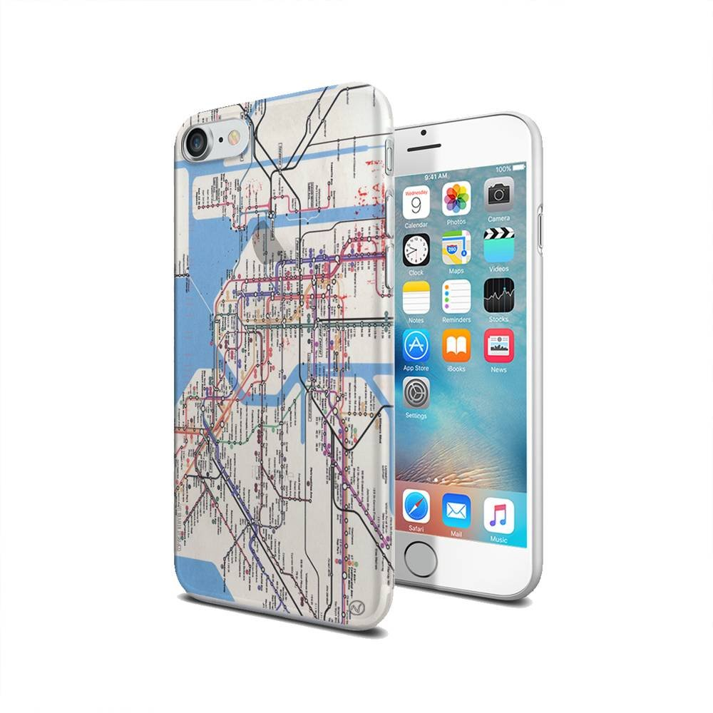 New York Subway Map App Iphone.Amazon Com New York Subway Map New Vibe Iphone 7 Clear Cover Case