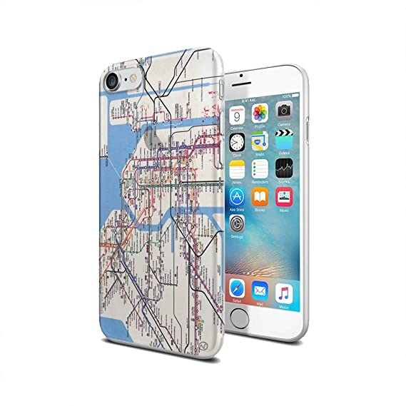 New York Subway Map Mobile.Amazon Com New York Subway Map New Vibe Iphone 7 Clear Cover Case