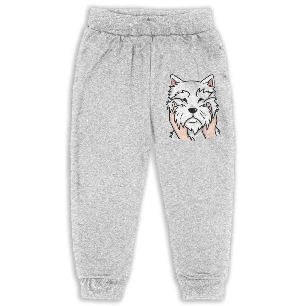 Child GHYNJUM West Highland Terrier Unisex 2-6T Autumn and Winter Cotton Casual Trousers
