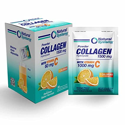 Amazon.com: Collagen Powder Hydrolysate 1500 mg With Vitamin C 1000 mg | Supplement for Healthier Hair, Skin & Nail, Anti-Aging, Joint Support, ...