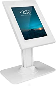 Mount-It! Anti-Theft iPad 7 Kiosk Stand | Secure iPad 10.2 Retail Kiosk | Locking Counter-Top Tablet Stand for 7th Generation iPad 10.2 (MI-3771W_G7)