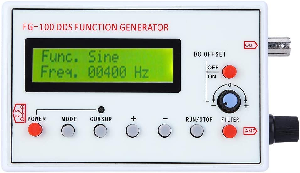 fasient1 1HZ‑500KHz DDS Signal Generator Counter,High Precision Function Generator Sine+Square+Triangle+Sawtooth Waveform,Counter Signal Source Generator Meter