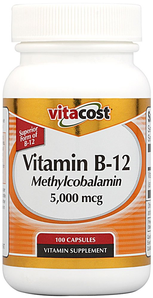 Vitacost Vitamin B-12 Methylcobalamin -- 5000 mcg - 100 Capsules