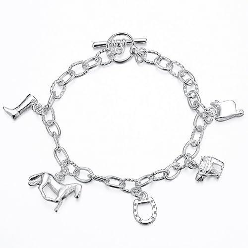 Bescheiden Armband Zirkonia Pink Silber 925 Herz