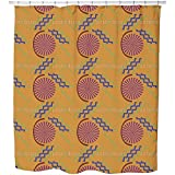 Uneekee African Stitching Shower Curtain: Large Waterproof Luxurious Bathroom Design Woven Fabric