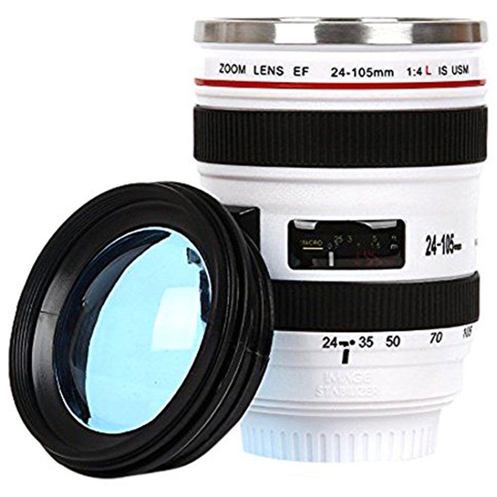 Cdrox Durevole in Acciaio INOX vuoto Boccette di caff/è Della Tazza Tazza di acqua t/è del caff/è Camera Lens Tumbler