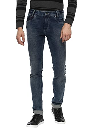 1dfd1660 Mufti Men's (Narrow) Relaxed Fit Narrow Leg Jeans: Amazon.in ...