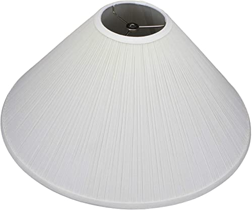 FenchelShades.com Lampshade 5 Top Diameter x 20 Bottom Diameter x 12 Slant Height with Washer Spider Attachment for Lamps with a Harp Pleated Cream