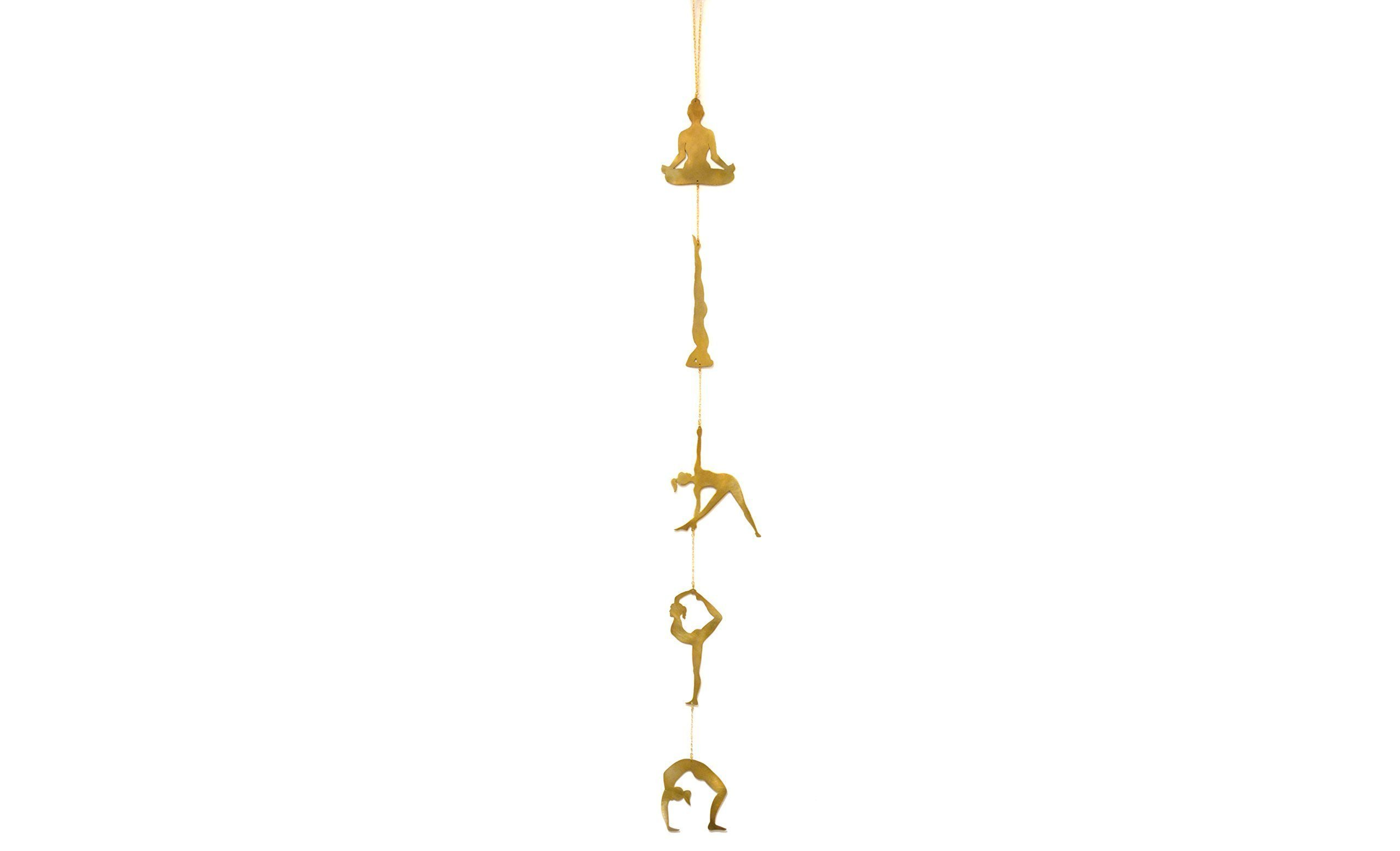 Yoga Meditation Decor by Ariana Ost | Handcrafted Yoga Studio Decorations for Yoga Theme and Inspired Spaces | Beautiful in Studio, Office, Home, Garden | Brass Yoga Poses | 39 Inches by Ariana Ost