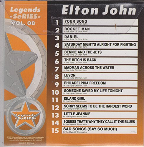 LEGENDS Karaoke CDG #8 All Choice Hits of ELTON JOHN Vol.1 cd +g
