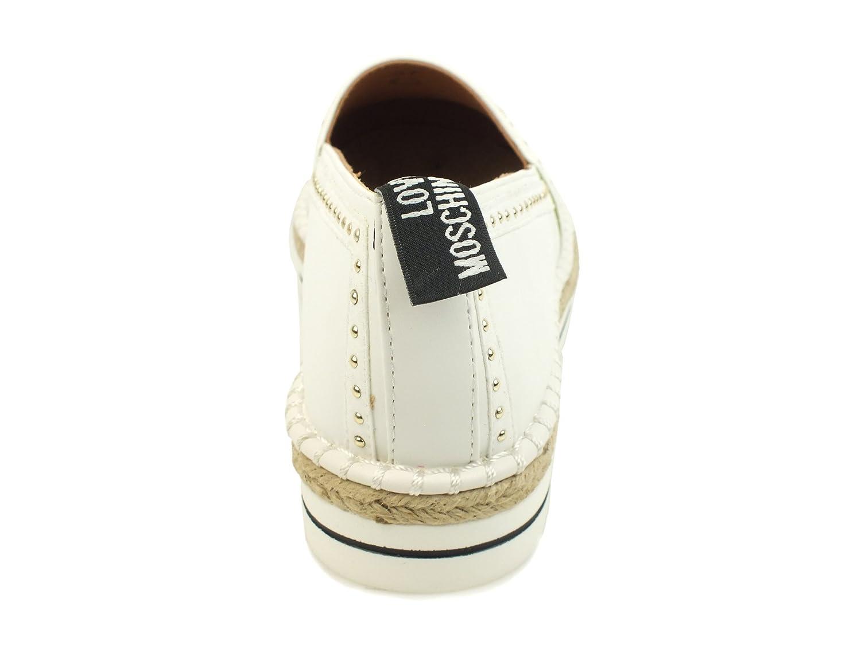 Moschino Love Espadrillas Borchiette Pace Ecopelle Bianco JA10233G05JA0100B JA10233G05JA0100B Bianco  - 4ed88a