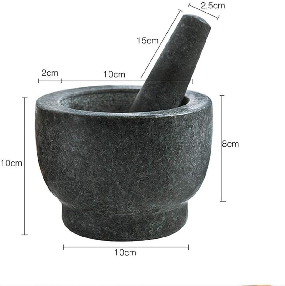 SILOLA Mortar Pestle Home Große Verdickung Retro Granit Gewürzmühle Küche Kochwerkzeuge Ingwer Knoblauchsauce Mühle Black
