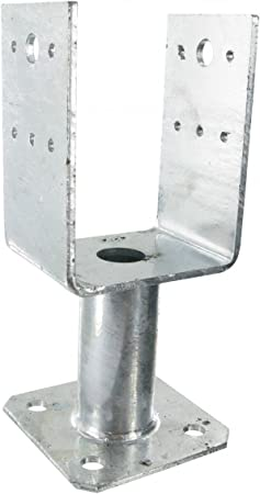 Simpson Strong-tie PPUP70 - Pie de poste en U con platino (70/126.5/70/100/101/100/5mm): Amazon.es: Bricolaje y herramientas