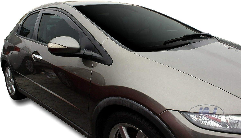 J/&J AUTOMOTIVE DEFLETTORI ARIA ANTITURBO per Honda Civic IX 5 porte 2012-2016 HTB//Break 2 pezzi