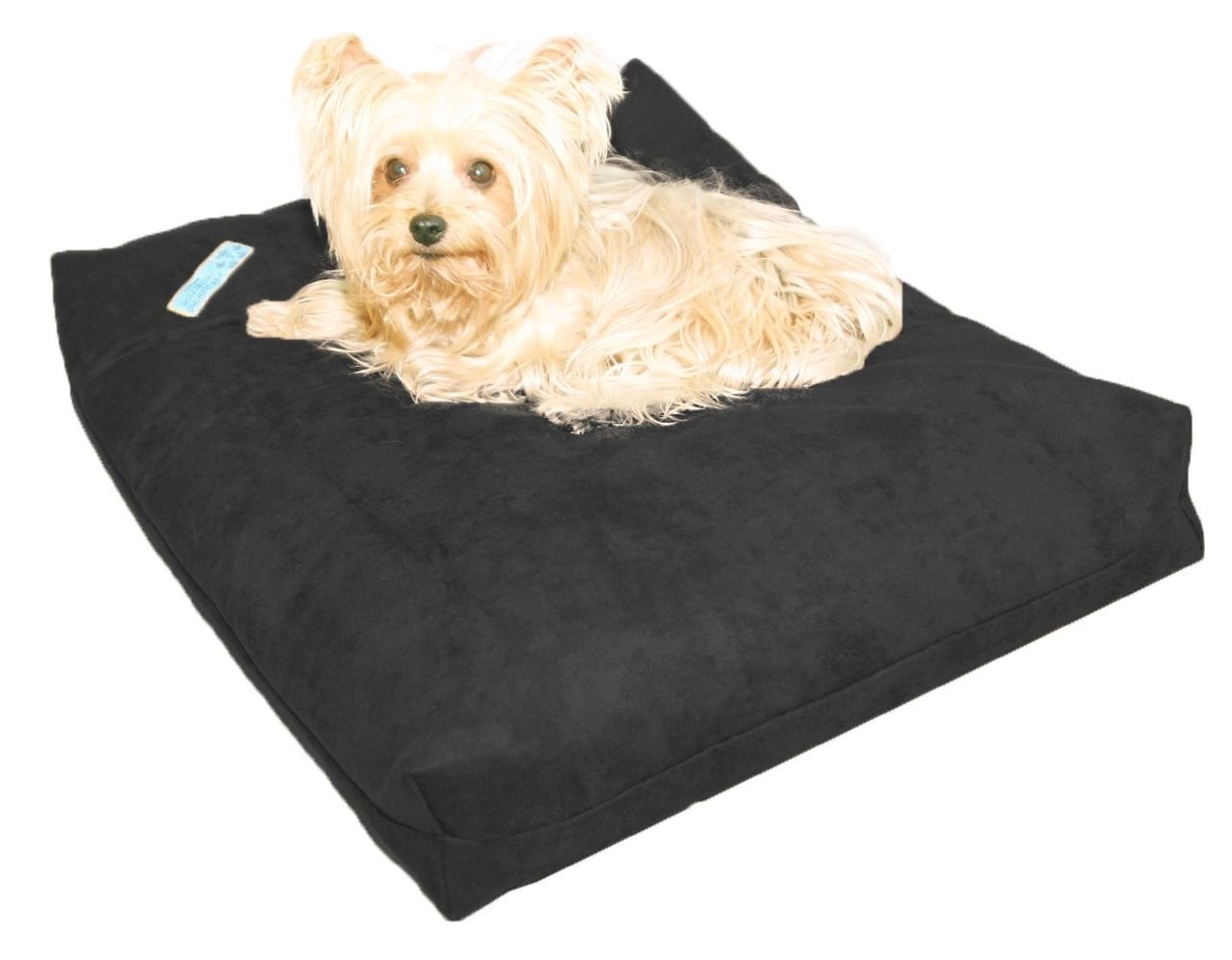 Five Diamond Collection Shredded Memory Foam Orthopedic Dog Bed, Removable Washable Passion Suede Cover, Water Proof Inner Fabric, Double Sided, Made in USA (Charcoal,for Small Breed Dogs, 25 x 20)