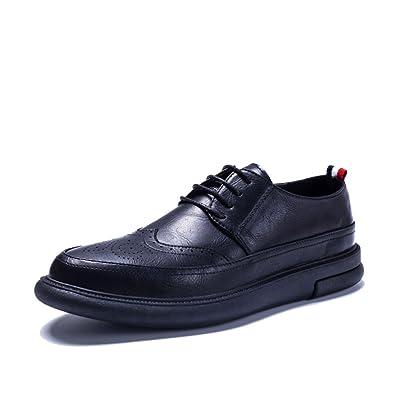 LYZGF La Jeunesse Des Hommes Au Printemps Et En Automne Des Affaires Décontracté Faible Pour Aider à La Mode Des Chaussures En Dentelle,Blue-39