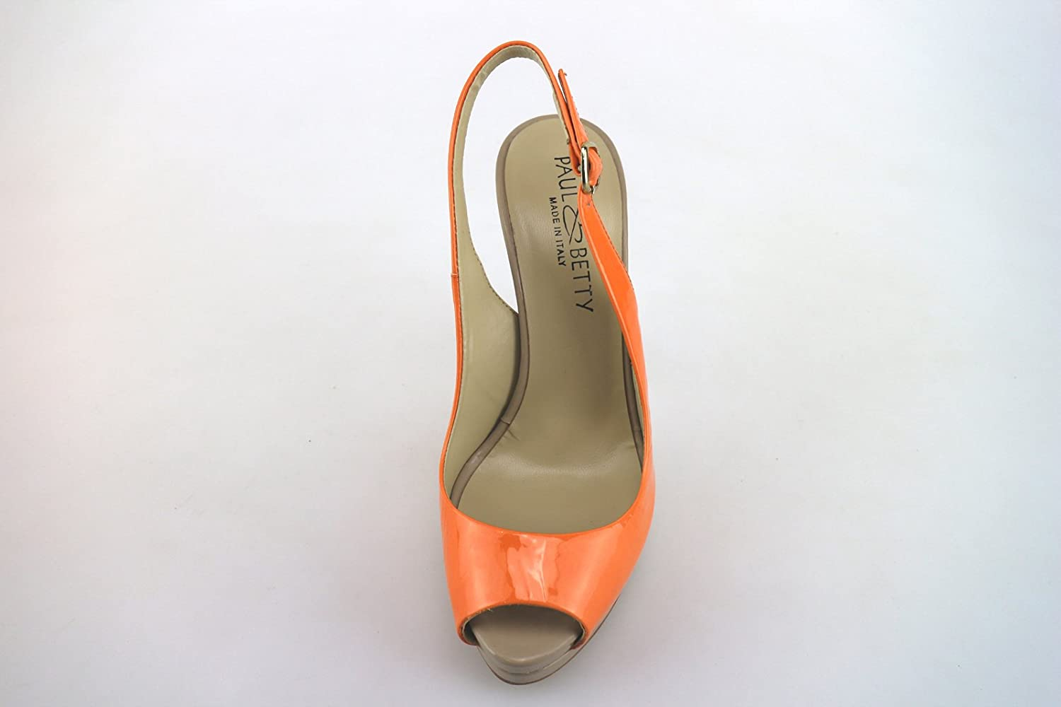 PAUL & & & BETTY Sandalen Damen Lack Orange 4854b5