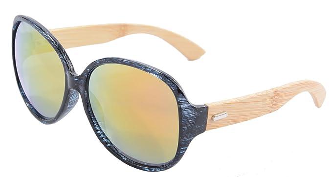 SHINU Reiten Radfahren Sonnenbrillen Bambusrahmen Sports übergroße Sonnenbrille-6101 (purple purple) 0bC7E2anEn