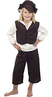World Book Day-Victorian-Scrooge TINY TIM Child/'s Fancy Dress Costume ALL AGES