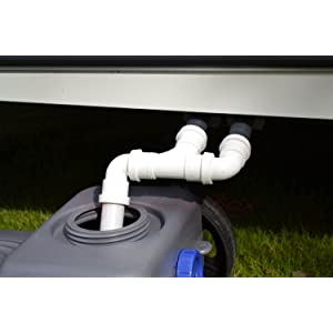 Double Caravan waste water outlet hose / pipe adapter