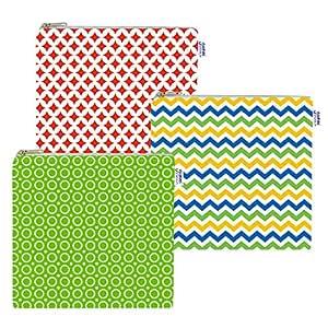 Cloth Sandwich Bags - Set of 3 - Yummi Pouch (Spunky)