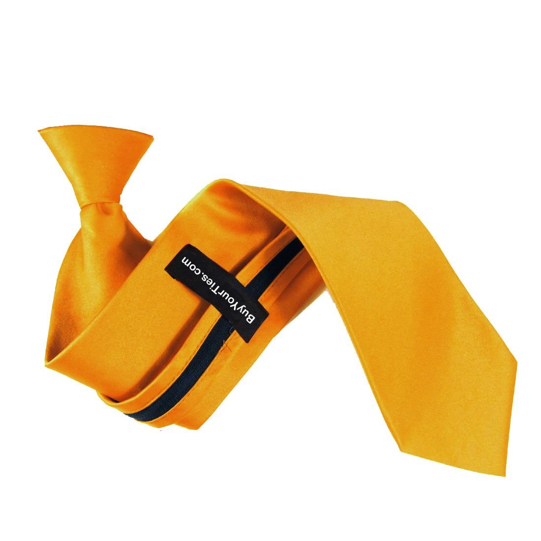 Solid Golden Yellow Boys 14 Clip On Tie