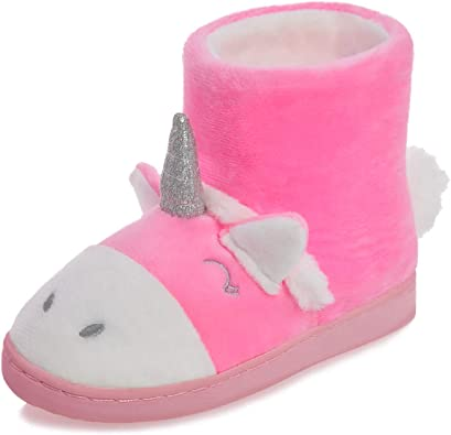 festooning Baby Girls Unicorn Slippers