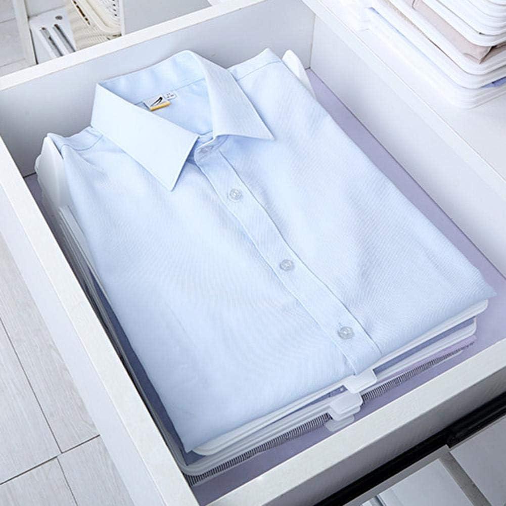 Kleiderschrank Organizer Schubladen Organizer Schnelle W/äsche Organizer transparent Board Regal T-Shirt Faltbrett