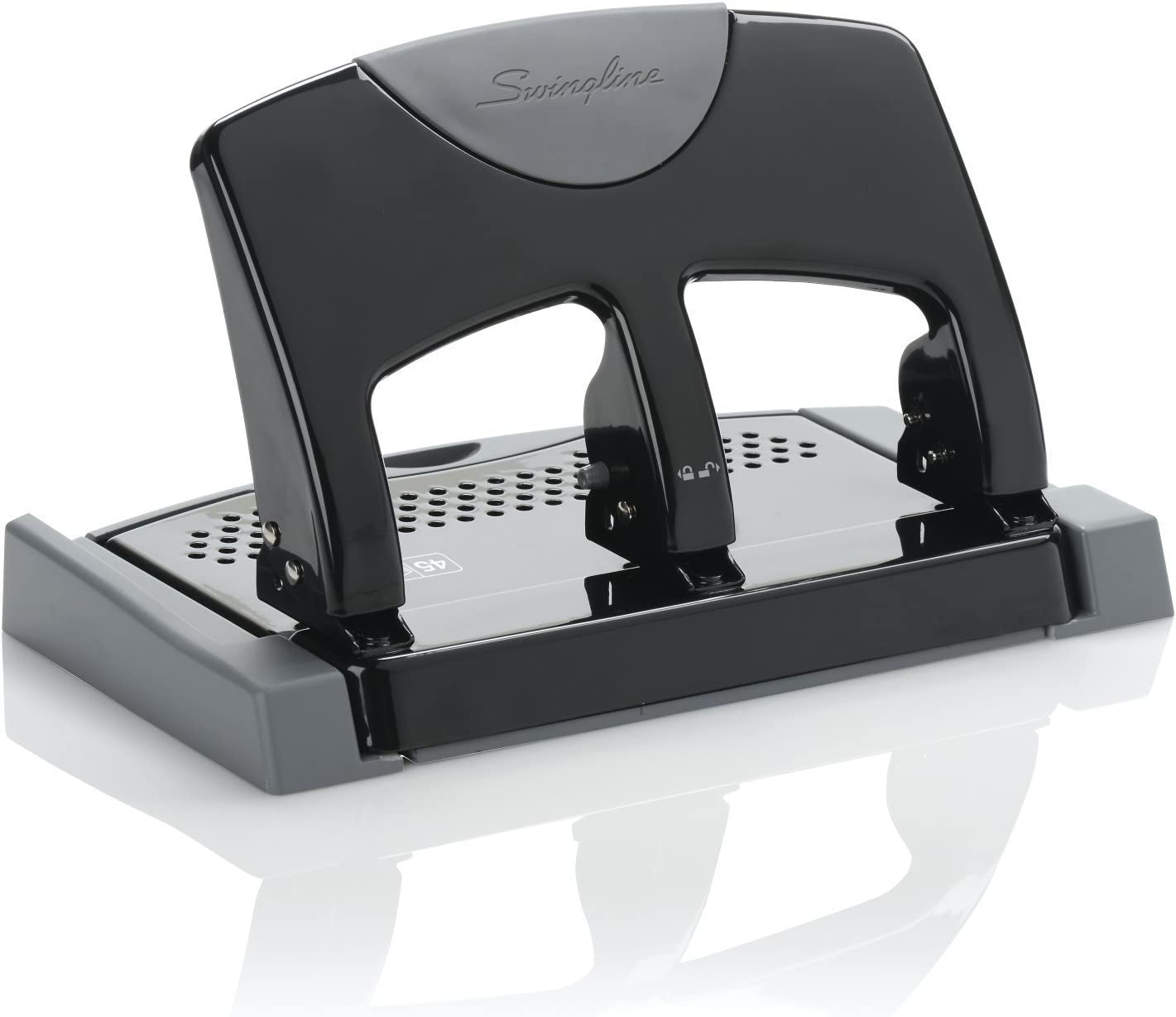 2 Punchers 45 Sheets A7074136 SmartTouch Swingline 3 Hole Punch Low Force