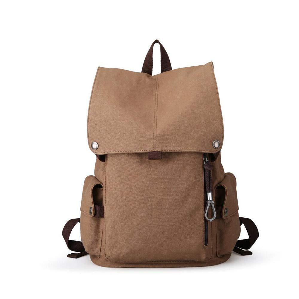 Sac à dos d\'école lumière café couleur sac d\'école sac de toile décontractée sac de voyage sac d\'étudiant sac cordon design garçon sac à dos fille ( coloré : Light coffee , Taille