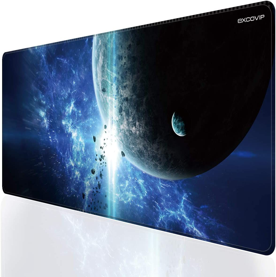 EXCOVIP Extra Extended Gaming Mouse Pad 90×40cm, Large Mouse mat with with Stitched Edge Non-Slip Rubber Base Mousepad for Laptop, Computer & PC, Precise Tracking