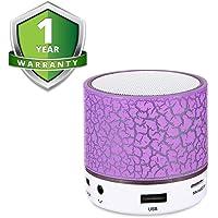 Forestone Wireless Mini LED Lights Bluetooth Speaker - FM Radio, Micro- Assorted Color
