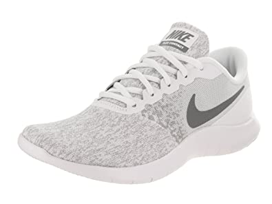 4075963399776 NIKE Womens Flex Contact Running Shoe White/Cool Grey-Metallic Silver (size  8)