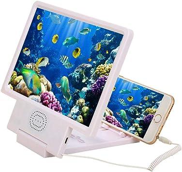 TEEPAO - Lupa de Pantalla para Smartphone, Pantalla amplificadora 3D HD para teléfono móvil con Altavoz, Amplificador de Pantalla de vídeo, Soporte Plegable: Amazon.es: Electrónica